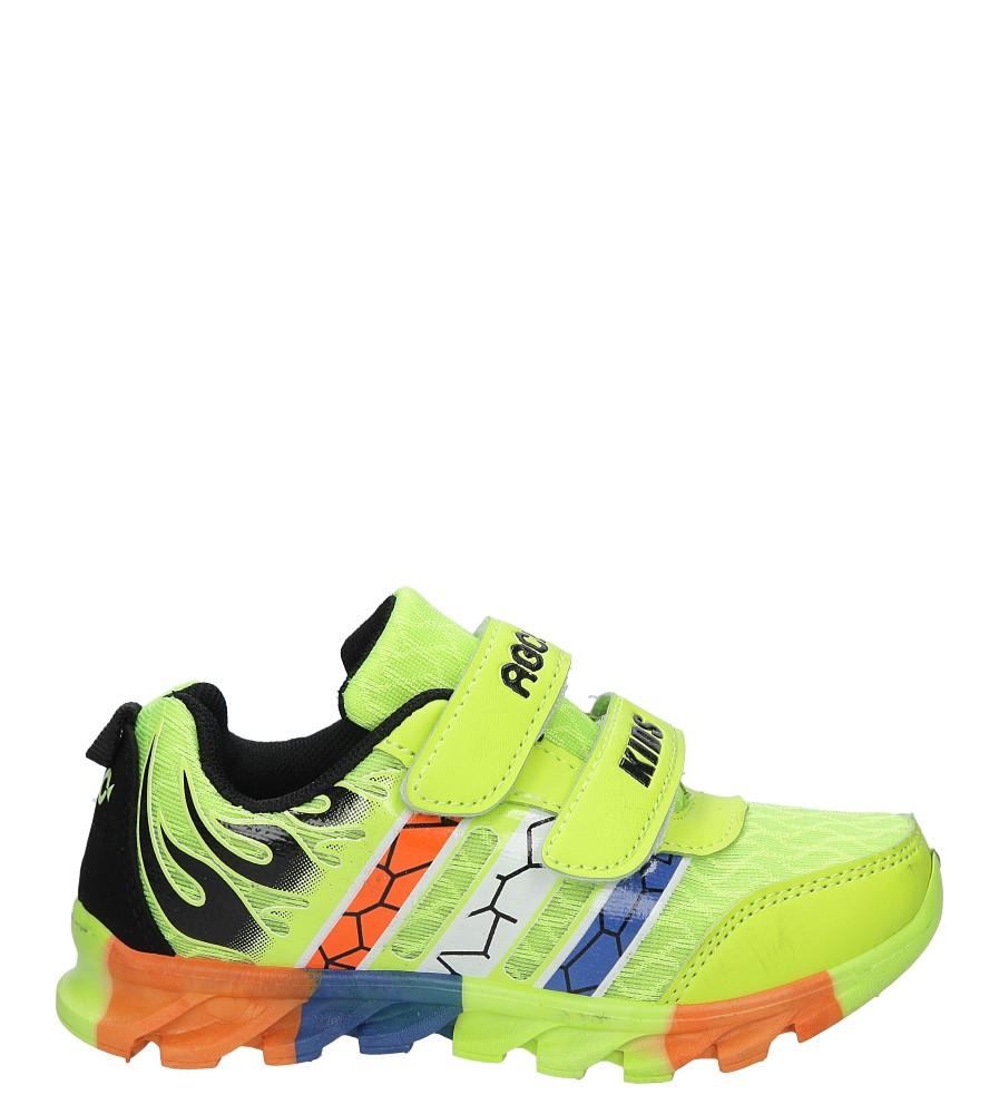 Seledynowe buty sportowe na rzepy Casu 3-6003