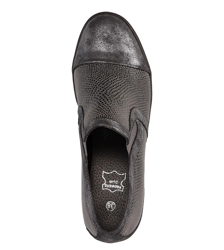 Sneakersy na koturnie S.Barski L05717P nosek_buta zaokrąglony