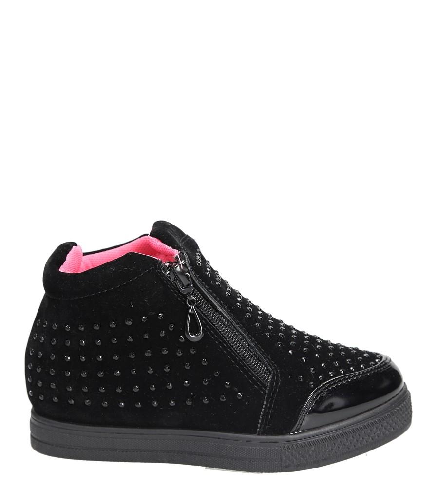 Sneakersy z cyrkoniami Casu R51C czarny