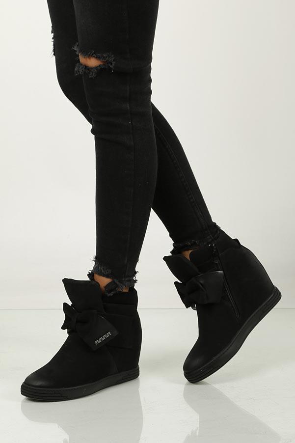 Sneakersy z kokardą S.Barski 16069