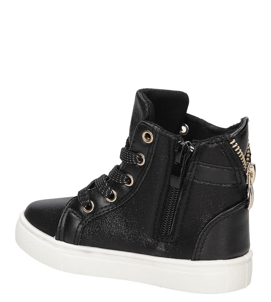 Sneakersy z ozdobnym zamkiem Casu DD403 wierzch skóra ekologiczna