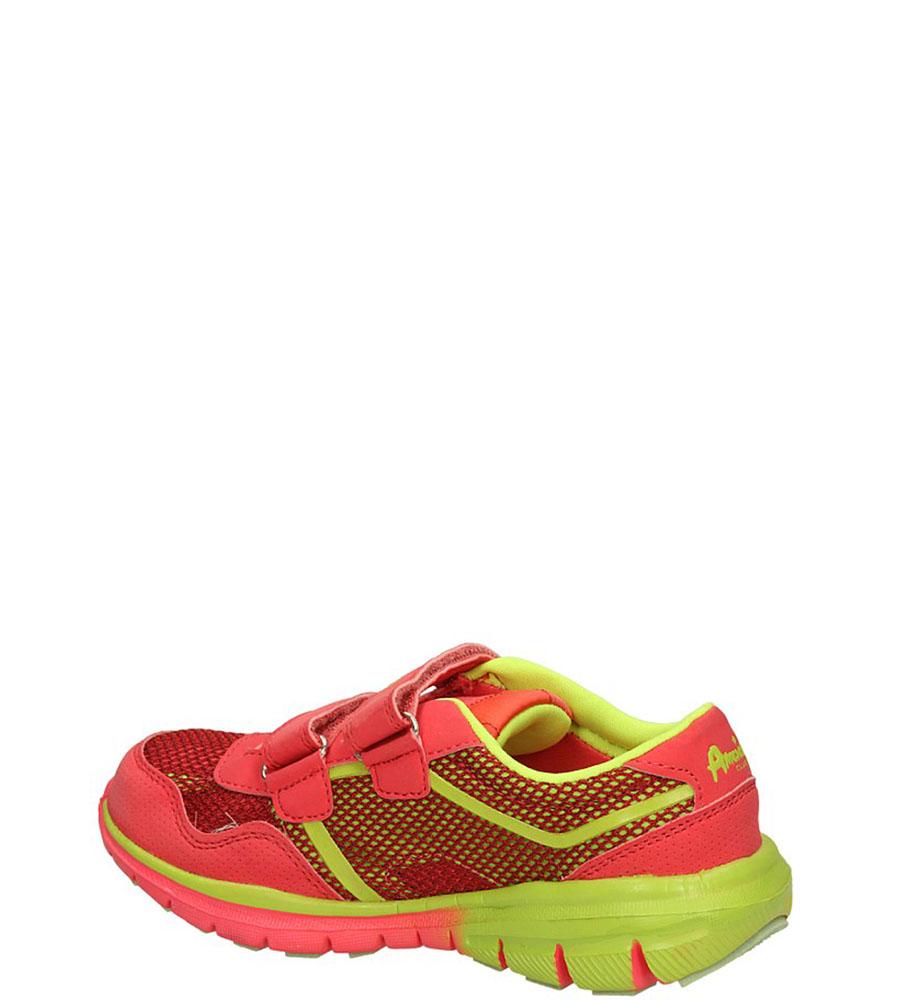 SPORTOWE AMERICAN K1318 kolor czerwony, limonkowy