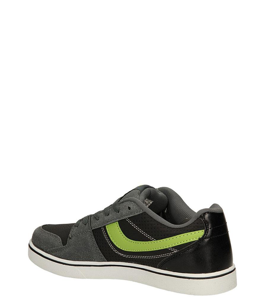 SPORTOWE CASU 7ACH-141137 kolor czarny, szary, zielony