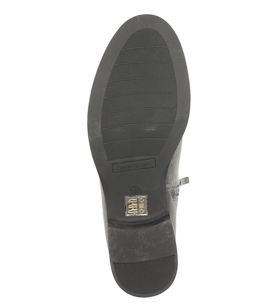 Srebrne botki sztyblety Sergio Leone BT553 wnetrze futerko