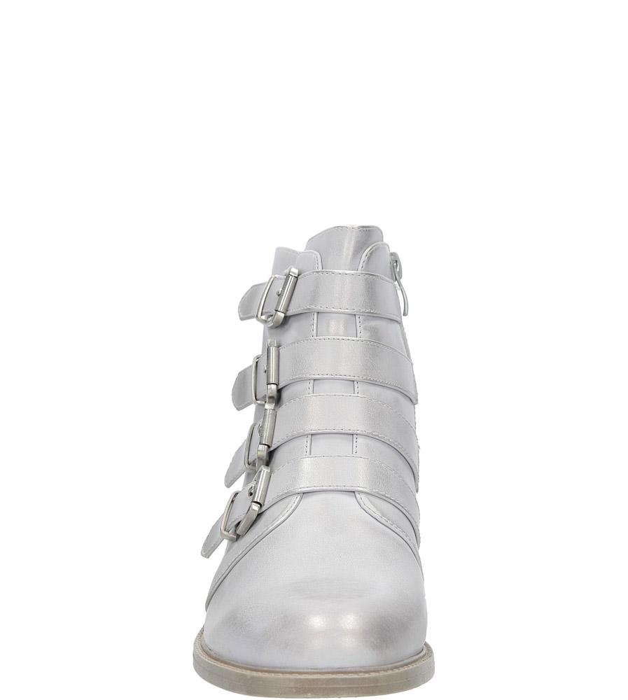 Srebrne botki wiosenne z klamrami Sergio Leone BT302-22P kolor srebrny