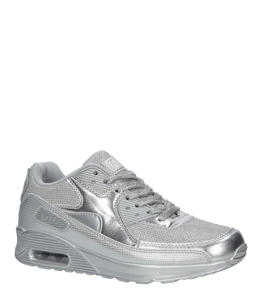Srebrne buty sportowe błyszczące sznurowane Casu DN7-19