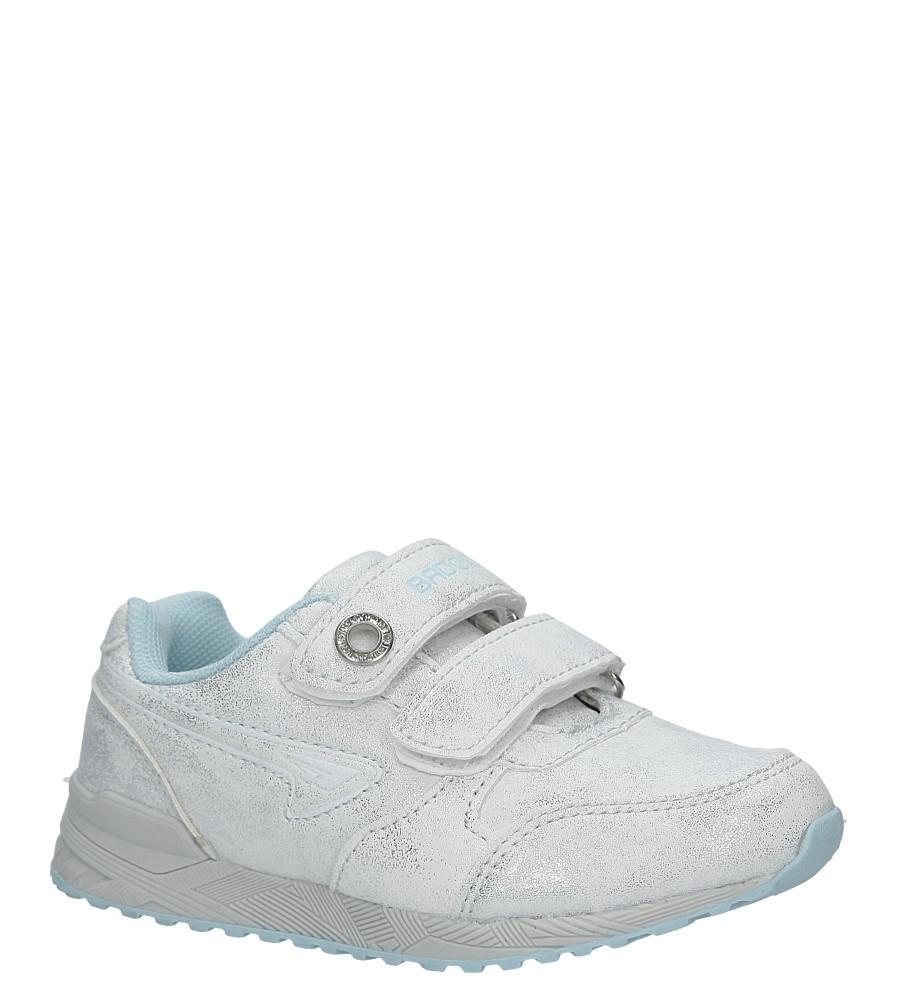 Srebrne buty sportowe brokatowe na rzepy Casu 3XC7535