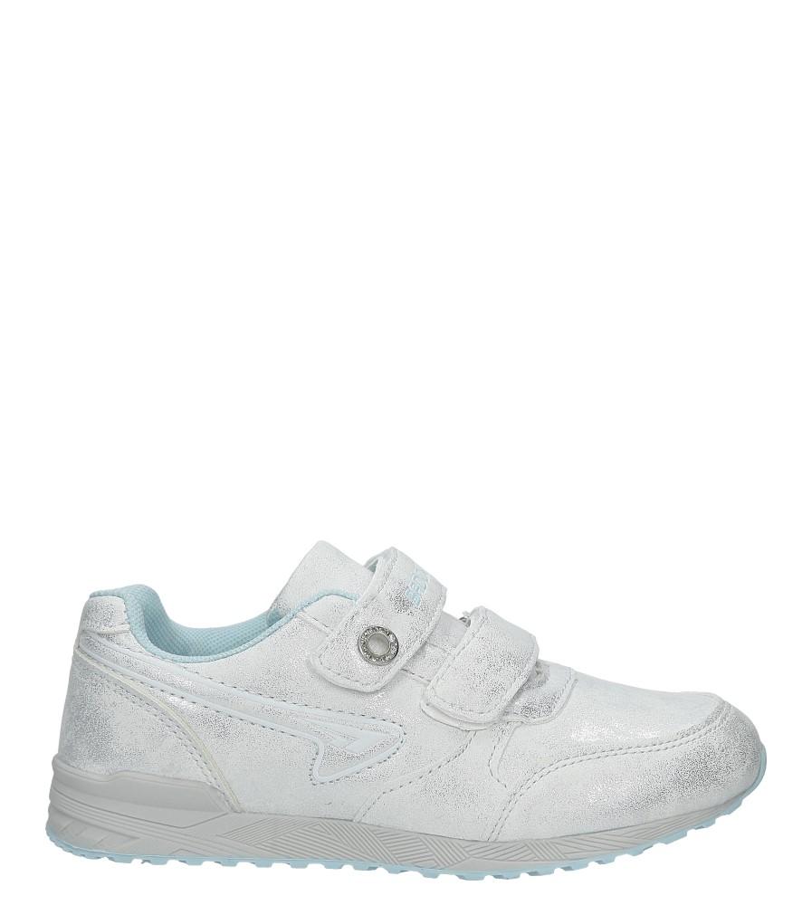 Srebrne buty sportowe brokatowe na rzepy Casu 5XC7535 model 5XC7535