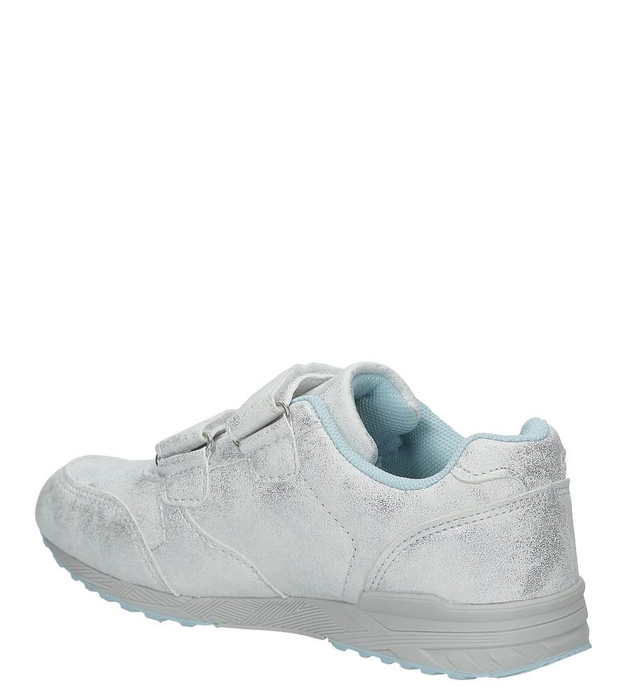 Srebrne buty sportowe brokatowe na rzepy Casu 5XC7535 kolor srebrny