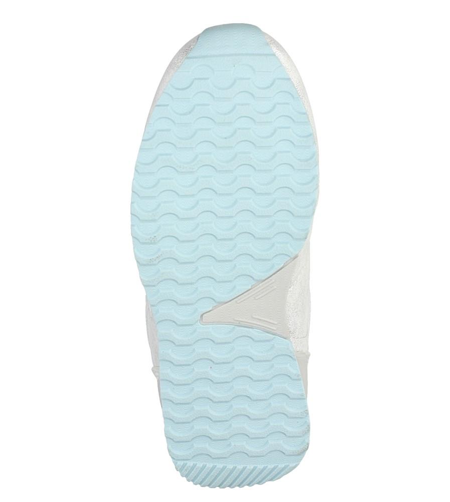 Srebrne buty sportowe brokatowe na rzepy Casu 5XC7535 wys_calkowita_buta 8 cm