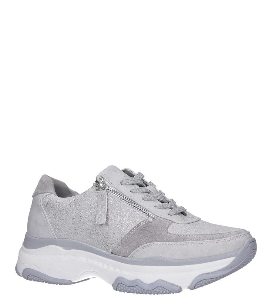 Srebrne buty sportowe sneakersy sznurowane z ozdobnym suwakiem Casu S019-8A-3 srebrny