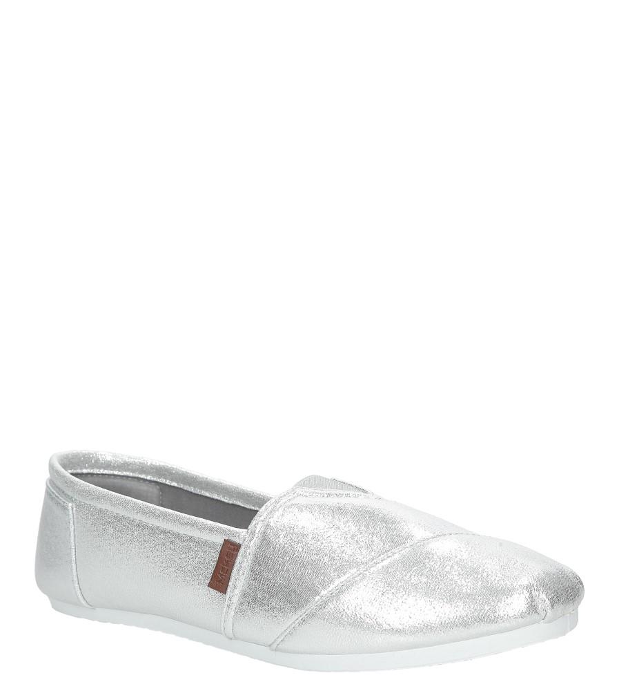 Srebrne buty tomsy błyszczące Mckey DTN177/17SI