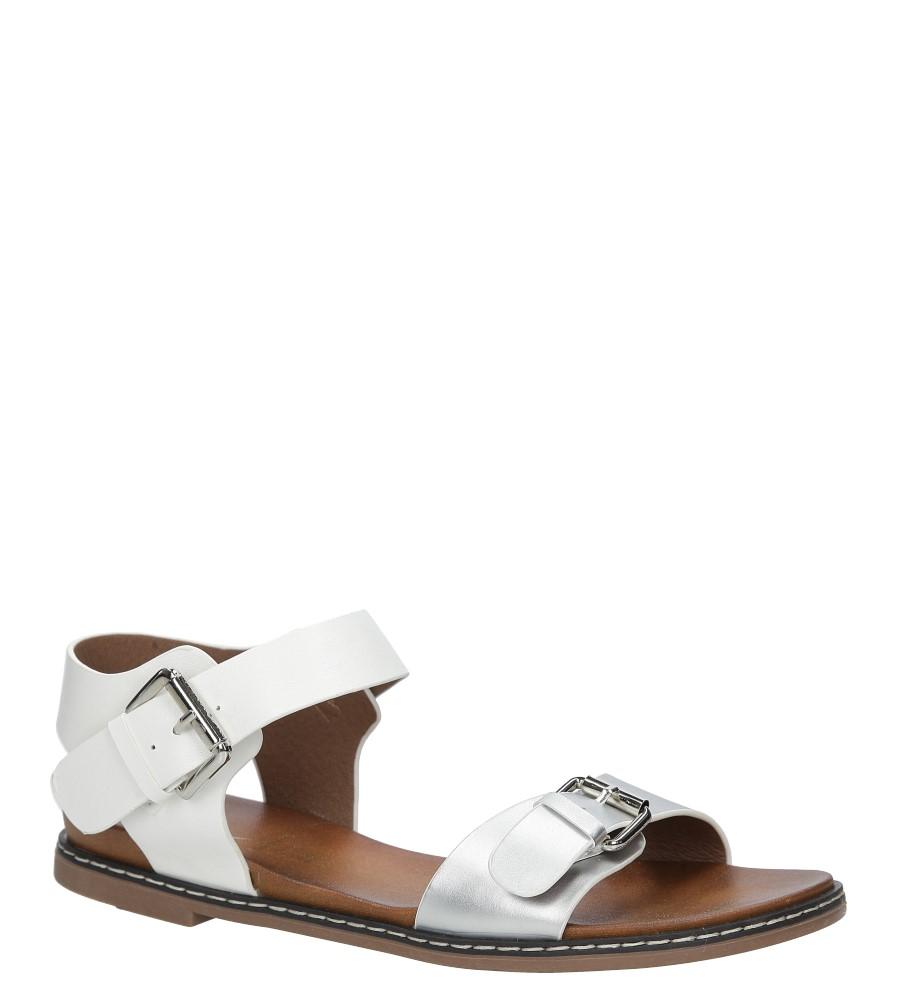 bba87dc9 Srebrne modne sandały ze srebrnymi klamrami Casu K18X12/S producent Casu