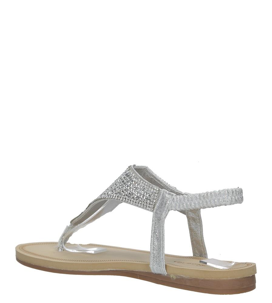 Srebrne sandały japonki płaskie z kryształkami Casu S10 wysokosc_obcasa 2 cm
