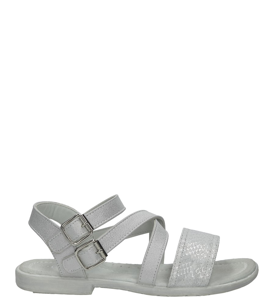 Srebrne sandały z klamrami Casu D-526