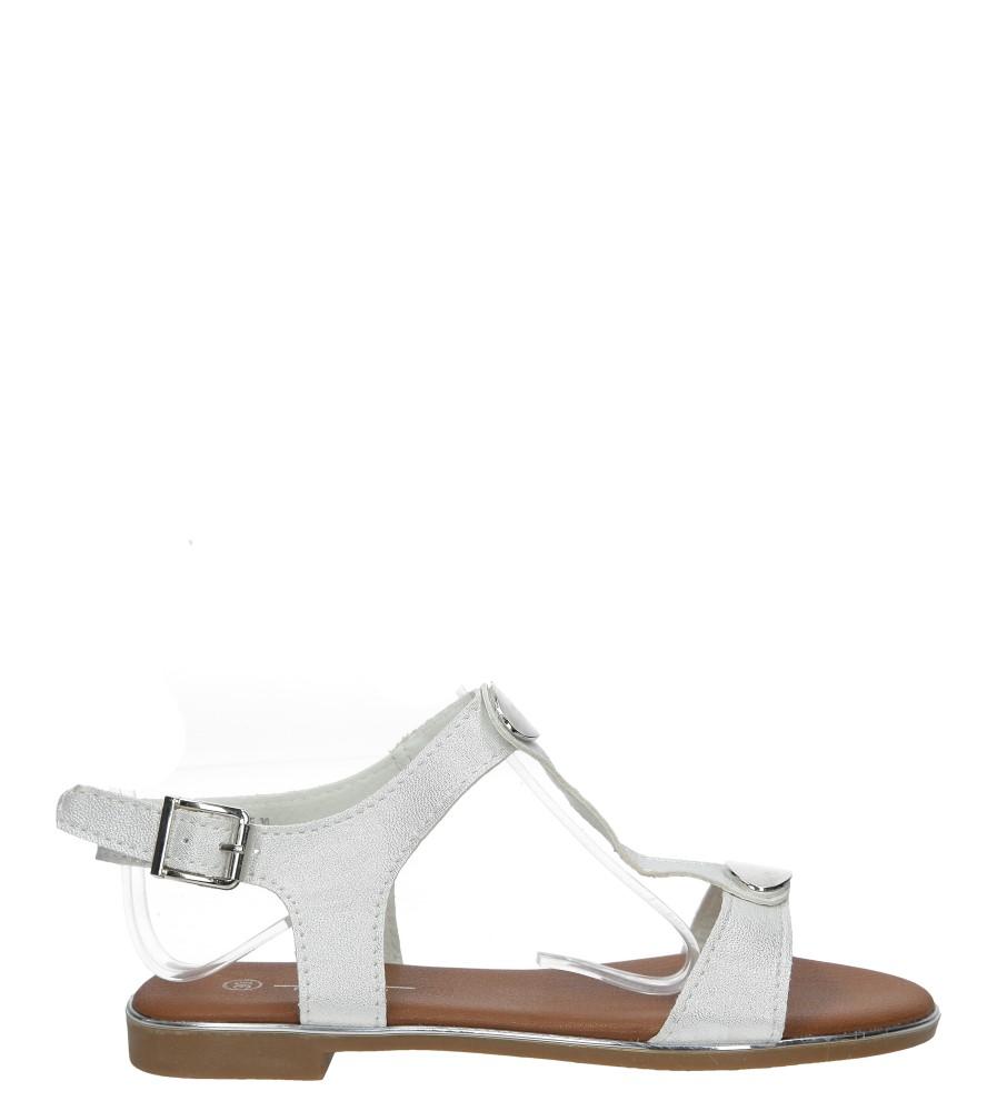 Srebrne sandały z metalową ozdobą Casu 5S-LE86217K