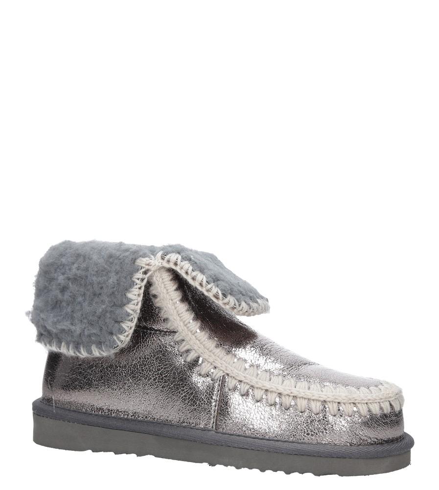 Srebrne śniegowce błyszczące emu Casu 7-ZT7833A