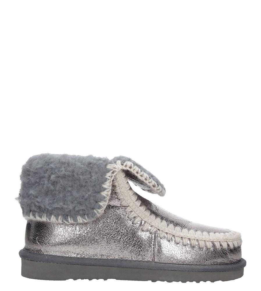 Srebrne śniegowce błyszczące emu Casu 7-ZT7833A wierzch skóra ekologiczna