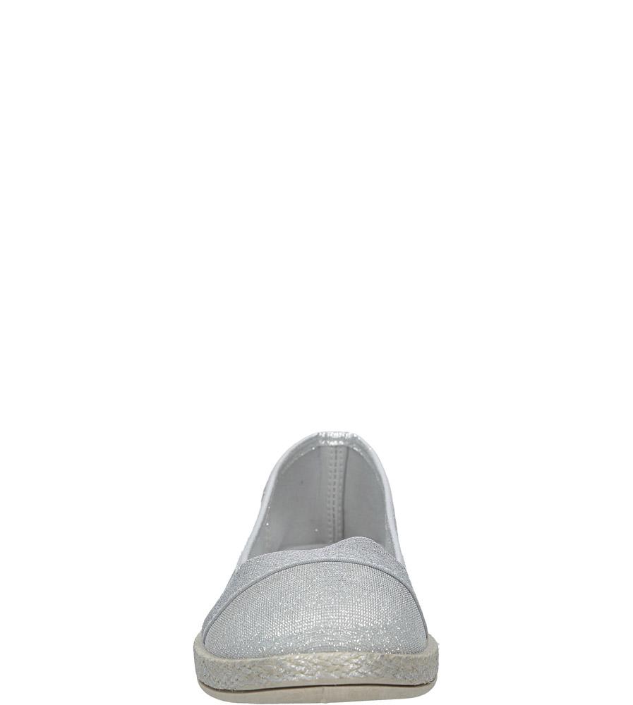 Srebrne tenisówki espadryle Casu Y6-19 kolor srebrny