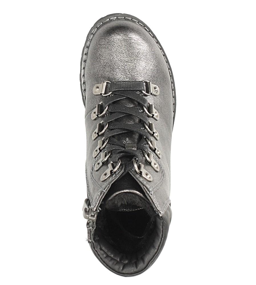 Srebrne trzewiki sznurowane Sergio Leone DZ022 kolor srebrny
