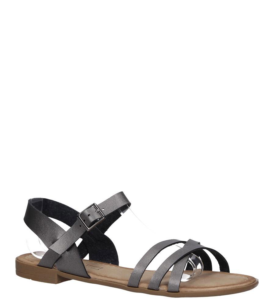 Stalowe lekkie sandały płaskie z paskami na krzyż Casu K19X2/PE