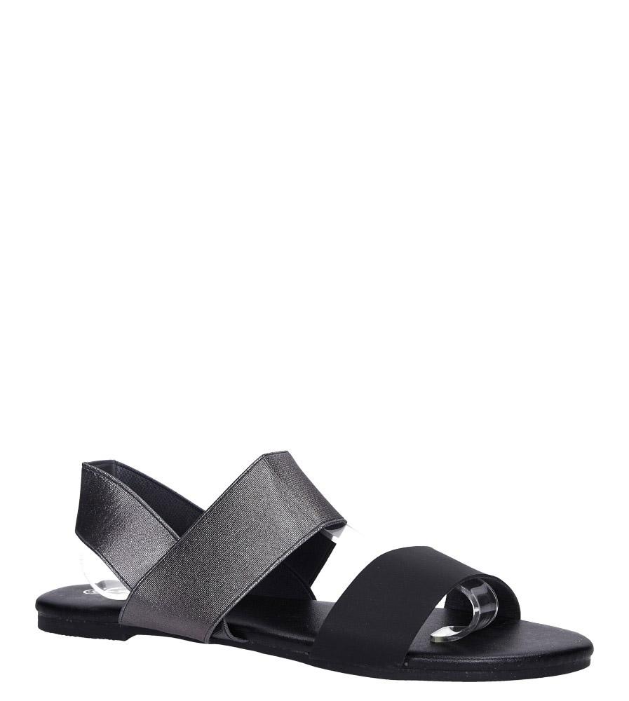 Stalowe sandały płaskie paski gumki Casu S19X1/PE