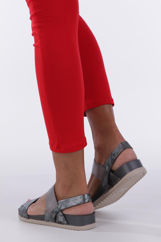 Stalowe sandały płaskie z gumką Casu F19X3/PE wysokosc_obcasa 3.5 cm