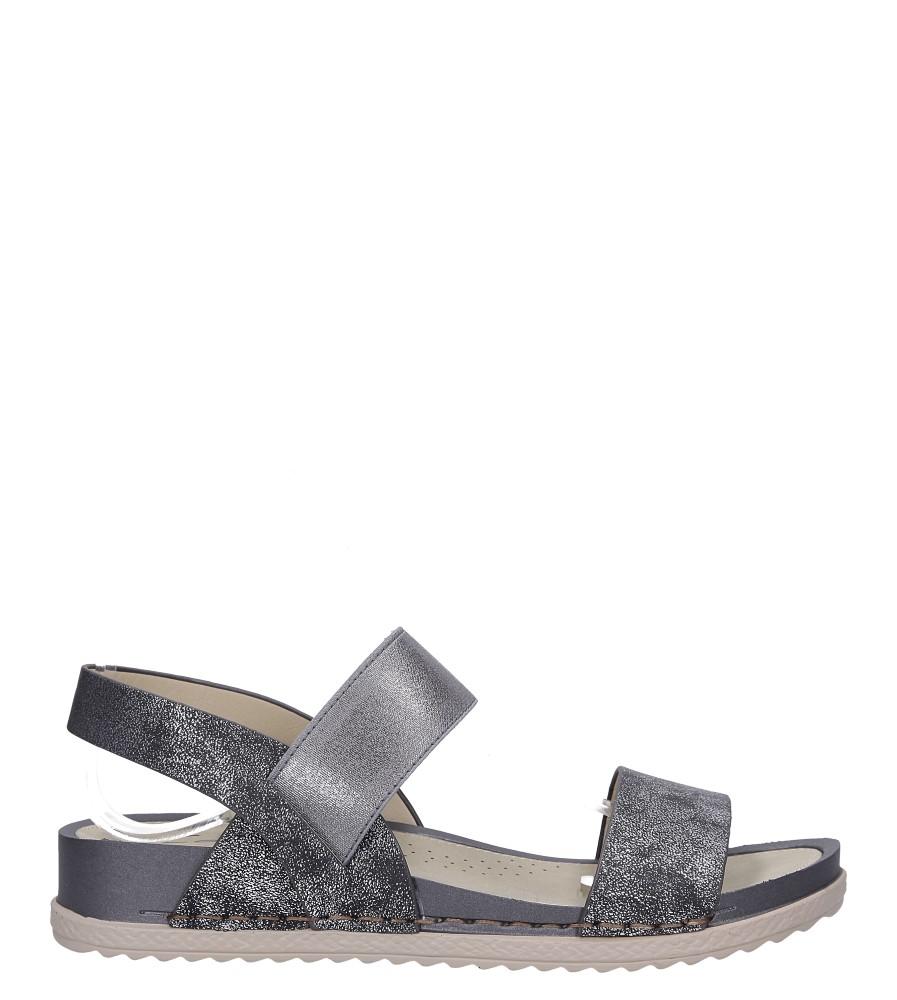 Stalowe sandały płaskie z gumką Casu F19X3/PE wysokosc_platformy 2 cm