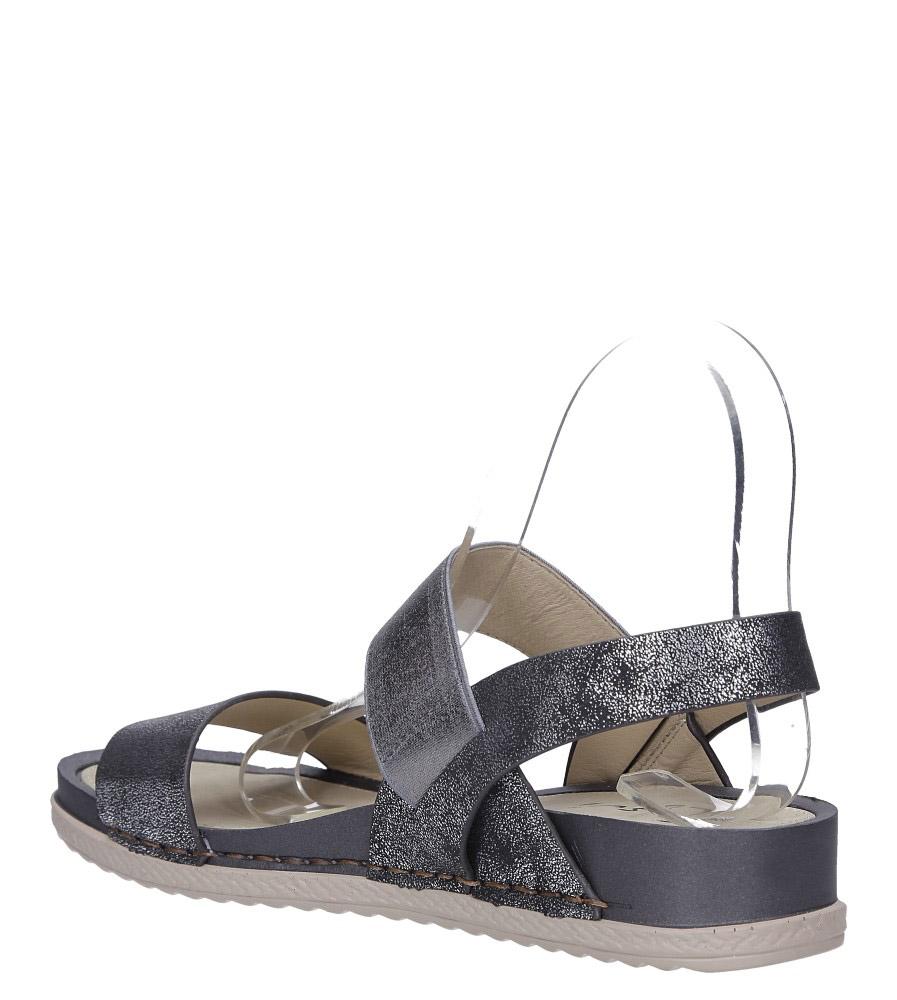 Stalowe sandały płaskie z gumką Casu F19X3/PE wys_calkowita_buta 12 cm