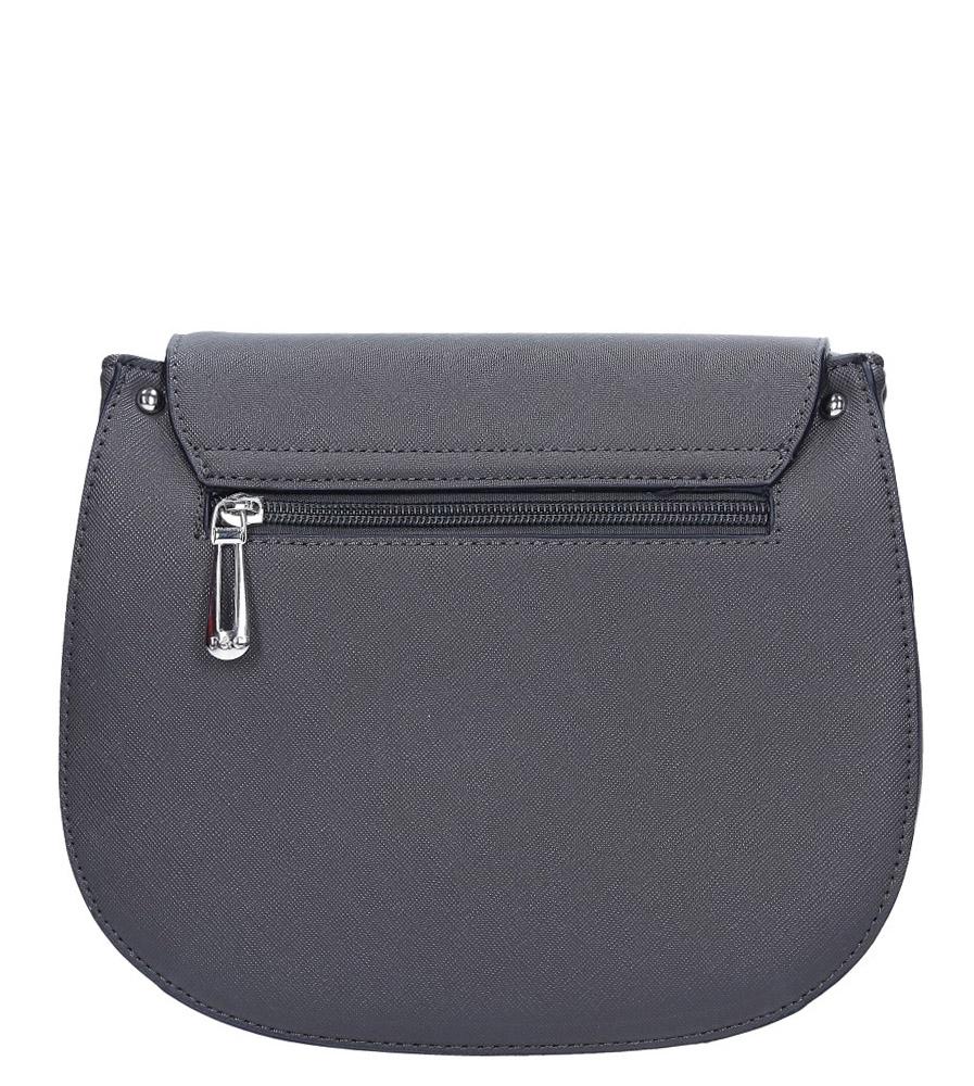 Szara torebk mała z frędzlami Casu F6362