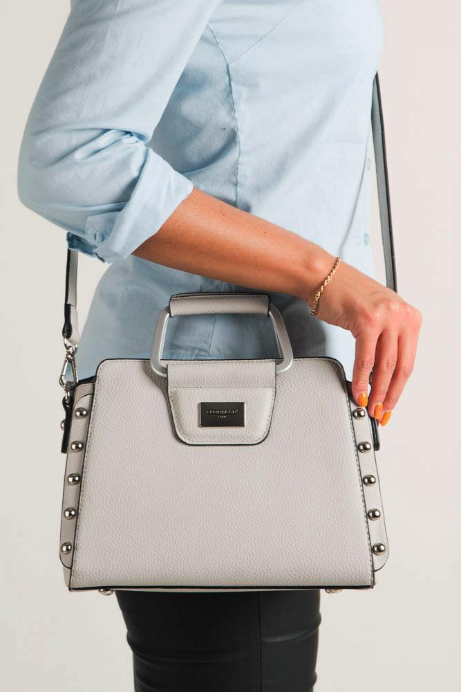 Szara torebka do ręki Casu S6398