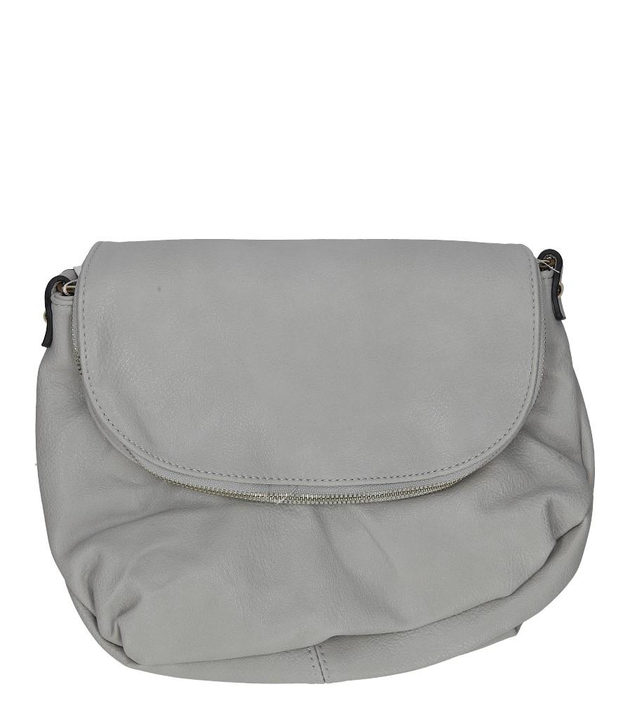 Szara torebka listonoszka z frędzlami Casu H067