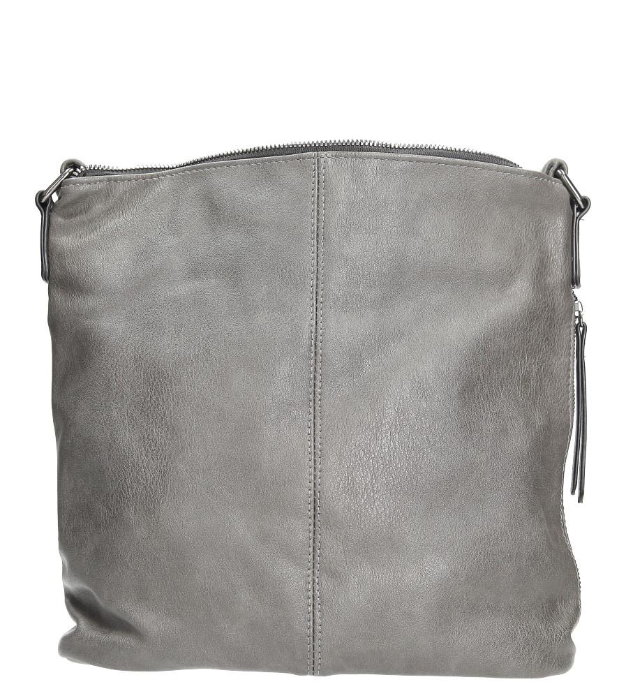 Szara torebka listonoszka z metalową ozdobą Casu 7719