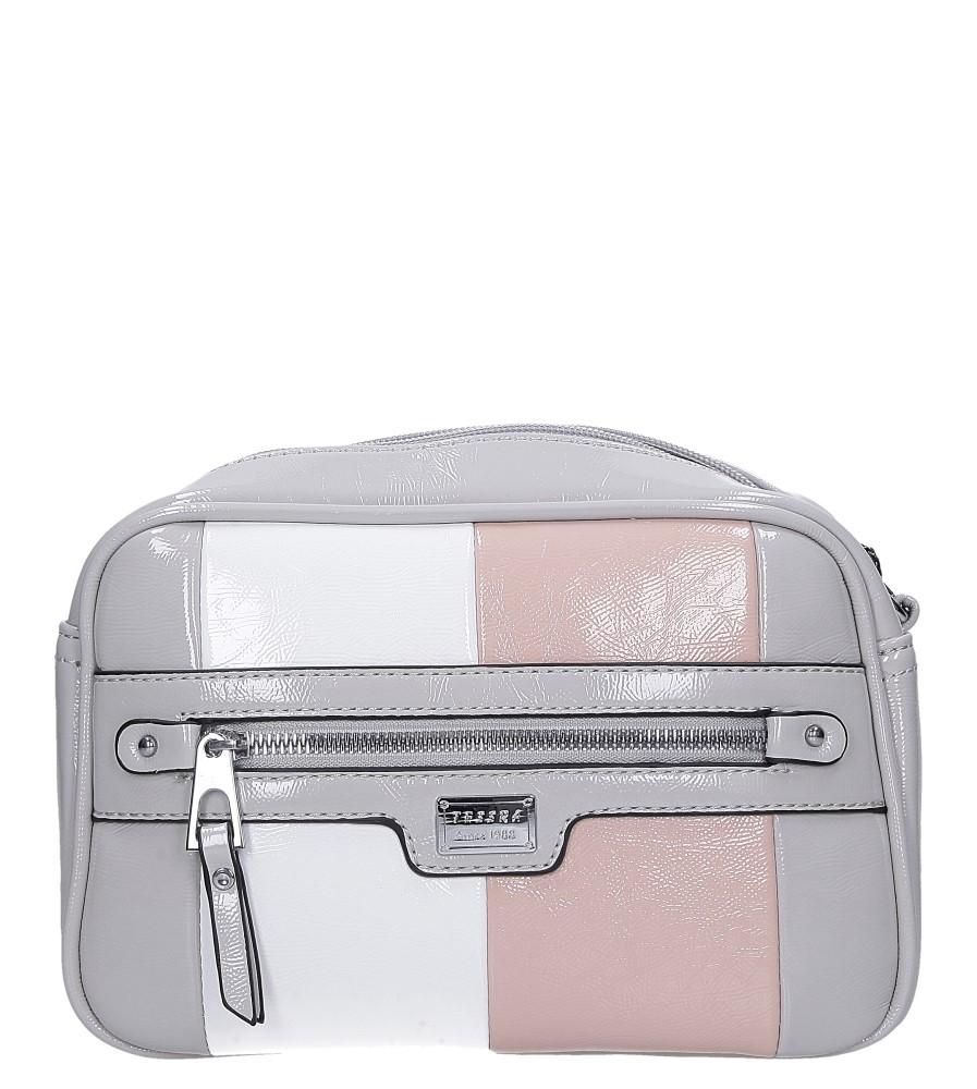 Szara torebka mała z kieszonką z przodu Casu 4341-TS