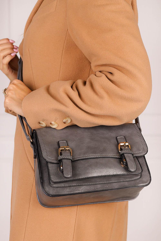Szara torebka mała z klamerkami Casu AK-55980819