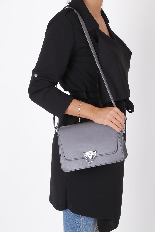 Szara torebka mała z łańcuszkiem Casu 4050-BB