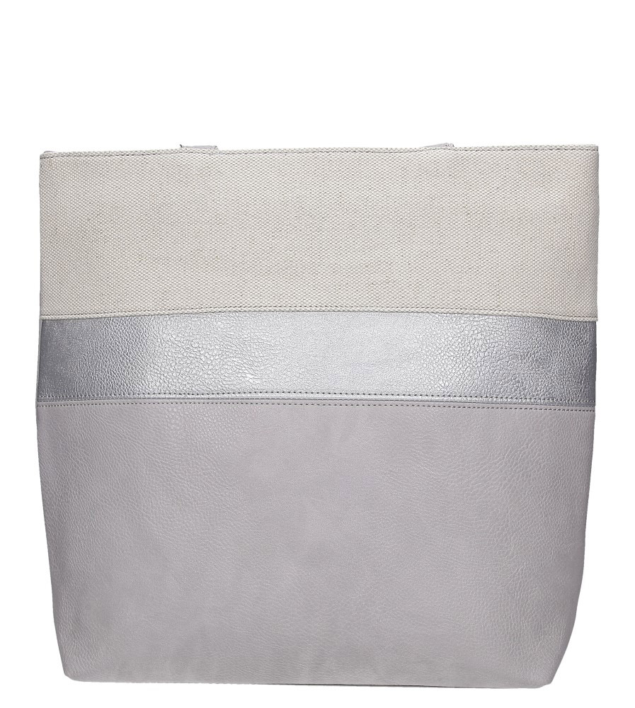 Szara torebka w pasy Casu AD-55