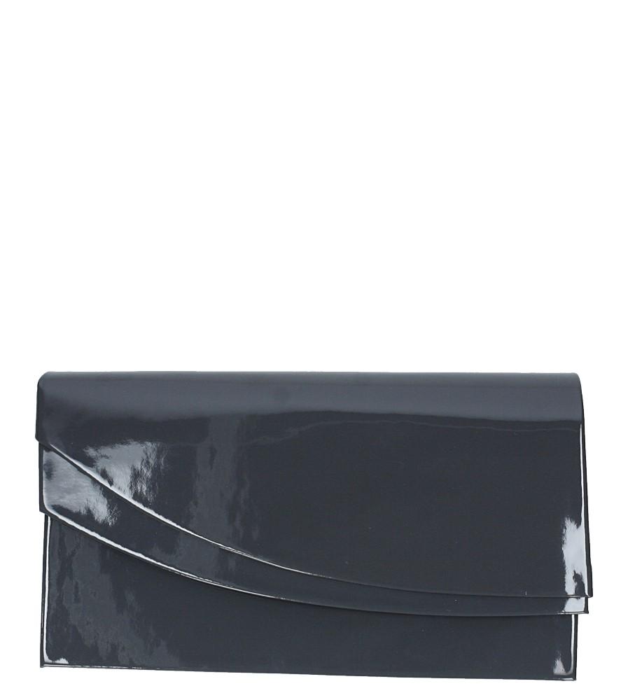Szara torebka wizytowa lakierowana Casu M01A
