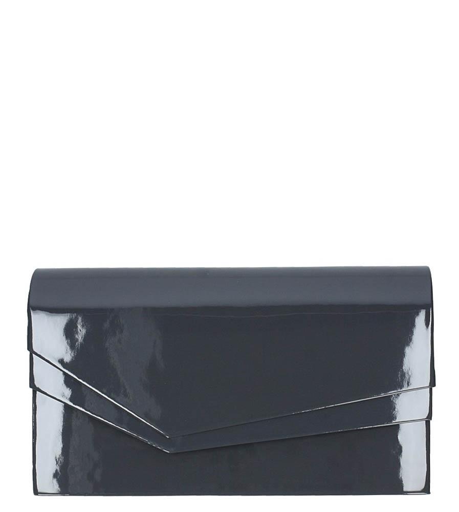 Szara torebka wizytowa lakierowana Casu M01B