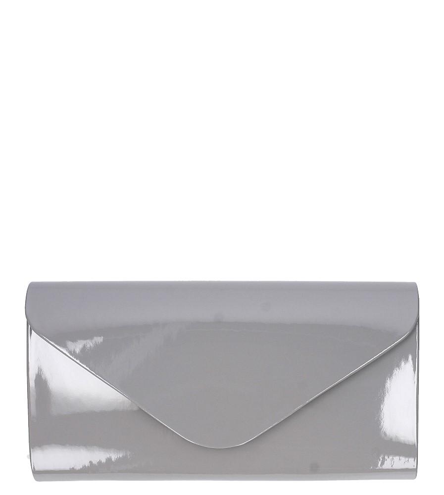 Szara torebka wizytowa lakierowana Casu R06/R-2A