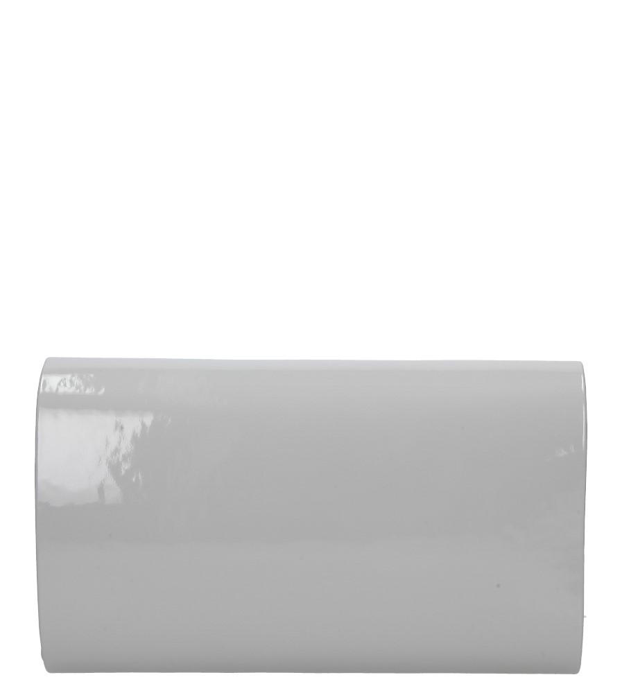 Szara torebka wizytowa lakierowana Casu R20B