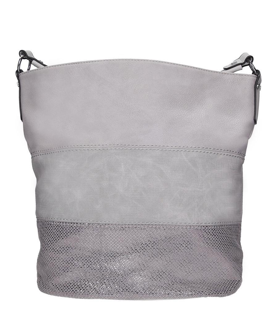 Szara torebka z błyszczącym paskiem Casu AC-52