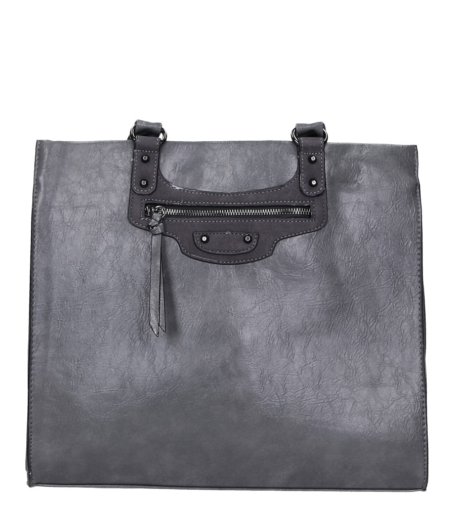 Szara torebka z kieszonką z przodu Casu AF-63