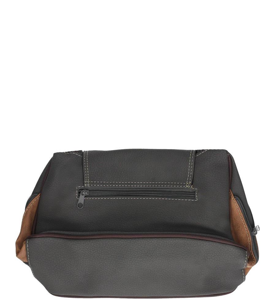 Szara torebka z ozdobnym suwakiem Casu 2183R