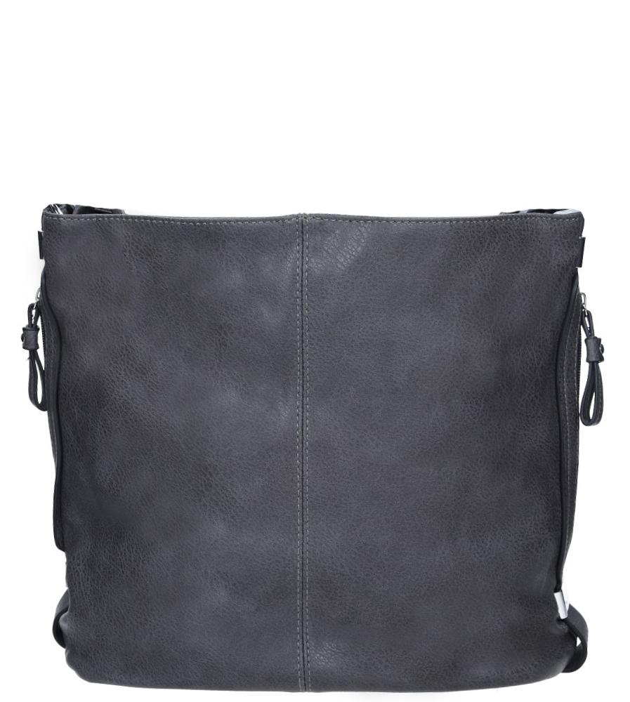 Szara torebka z ozdobnymi suwakami Casu 70-MH