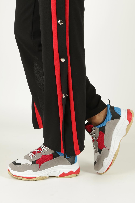 Szare buty sportowe na koturnie Casu D1901-L65