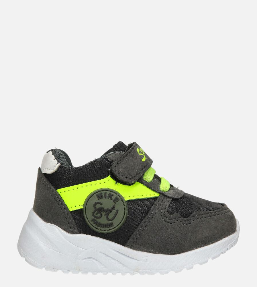 Szare buty sportowe na rzep Casu 20T4/M model 20T4/M/A-3