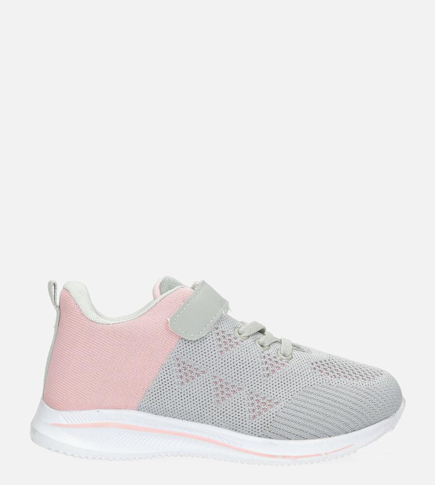 Szare buty sportowe na rzep Casu 920A szary