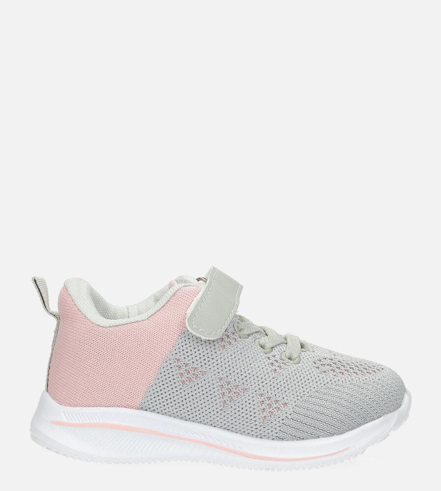 Szare buty sportowe na rzep Casu 920B