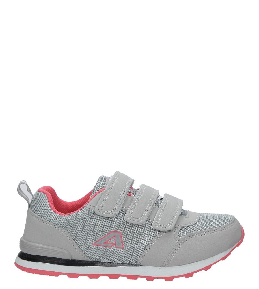 Szare buty sportowe na rzepy American 9